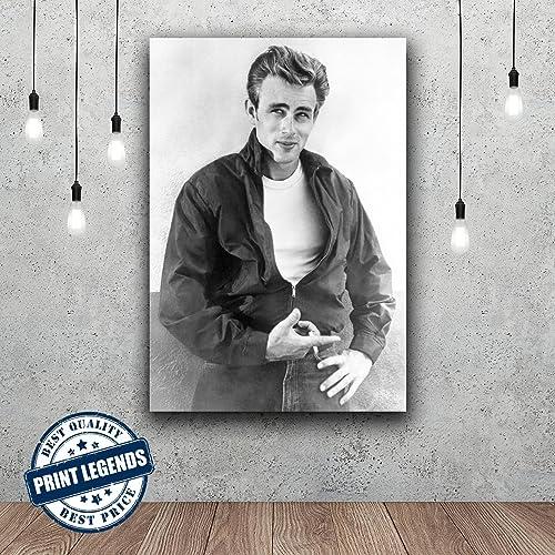 Amazon.com: James Dean Vintage Hollywood Canvas Print - Canvas Art ...