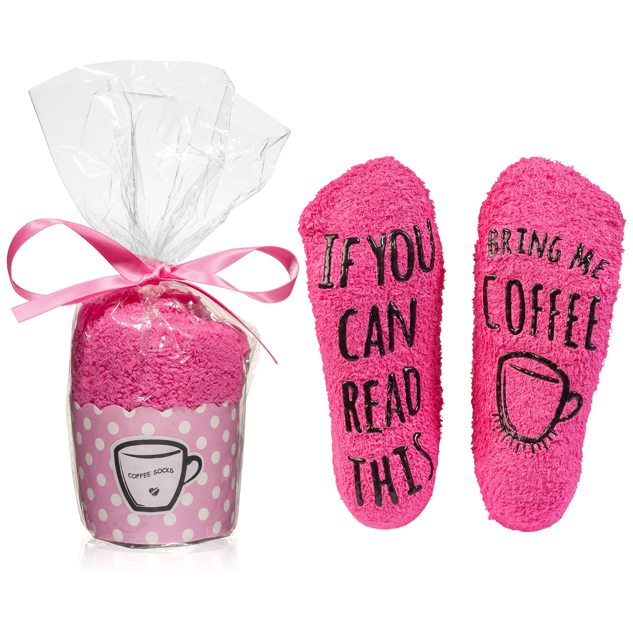 "Luxurious Cotton ""Bring Me Coffee"" Socks In Cupcake Packaging - The Perfect Present For Any Occasion"