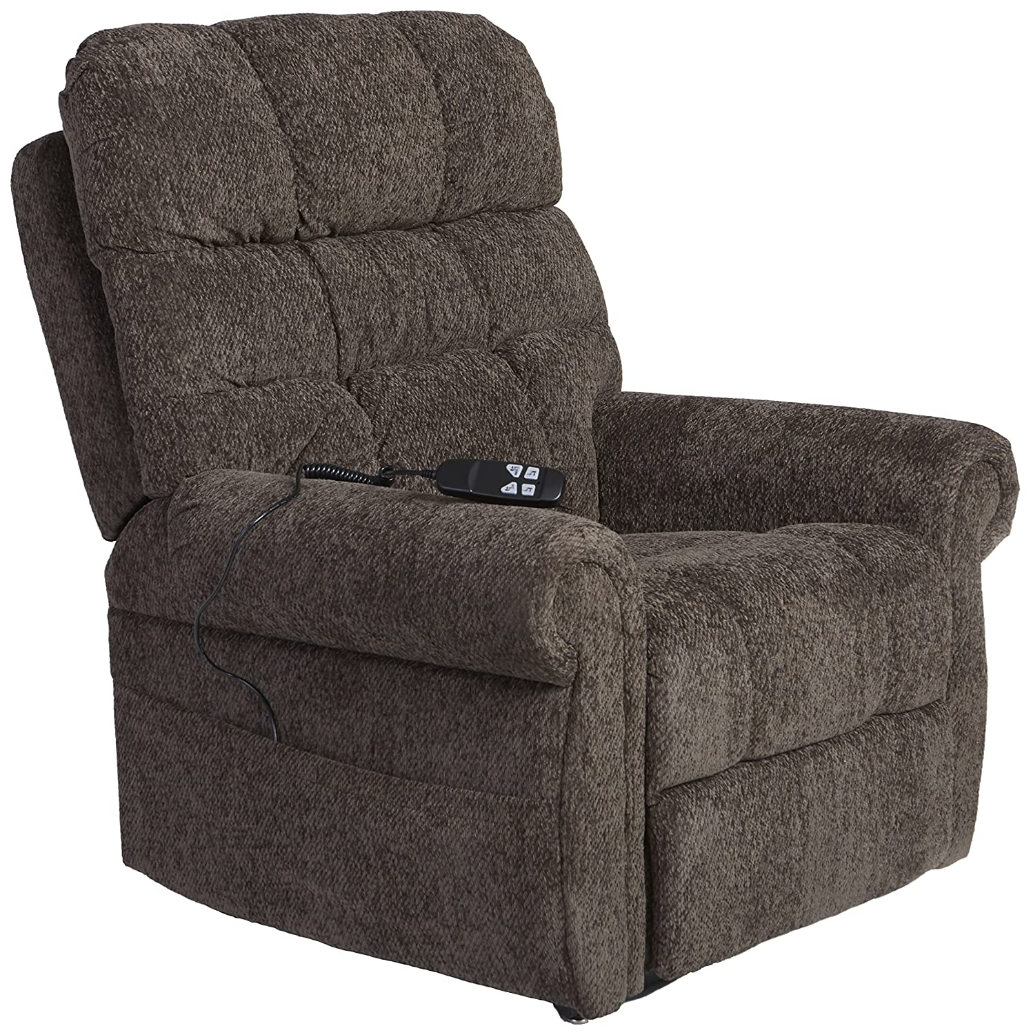 Amazon com ashley furniture signature design ernestine power lift recliner dual motor design polyester upholstery contemporary slate kitchen