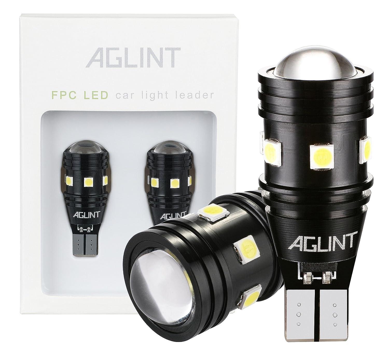 AGLINT 2X High Bright Feu de Position 912 921 W16W T15 3030 CANBUS Sans Erreur Ampoules Pour Auto LED Sauvegarde Inversé e Ampoule, Xenon Blanc AGLINTLED