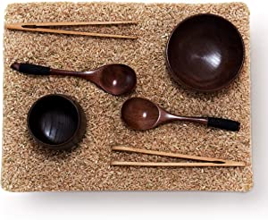 Sensory Bin Tools - Wooden Waldorf Toys and Montessori Tools Sized for Toddlers and Kids' Fine Motor Learning Play on Sensory Table and Activity Bins - Wood Tongs, Spoons, and Cups Toy Set