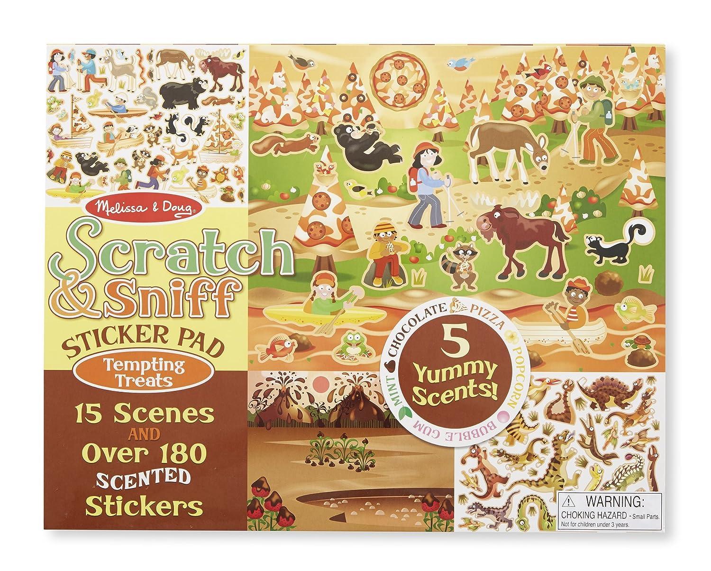 Amazon.com: Melissa & Doug Scratch & Sniff Tempting Treats Sticker ...