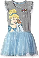 Disney Girls' Cinderella Ruffle and Tulle Dress