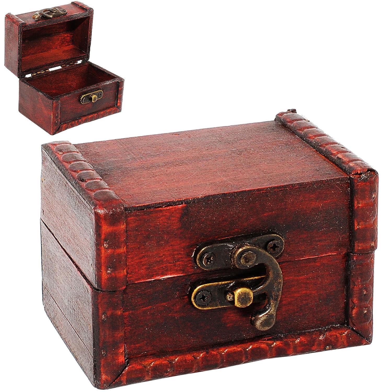 inkl aus Holz f/ür Kinder /& Erwachsende Kiste /& Truhe Name Holztruhe .. 9 cm // Schmuckkasten alles-meine.de GmbH kleine Schatzkiste // Schatztruhe Holzkiste mit Deckel