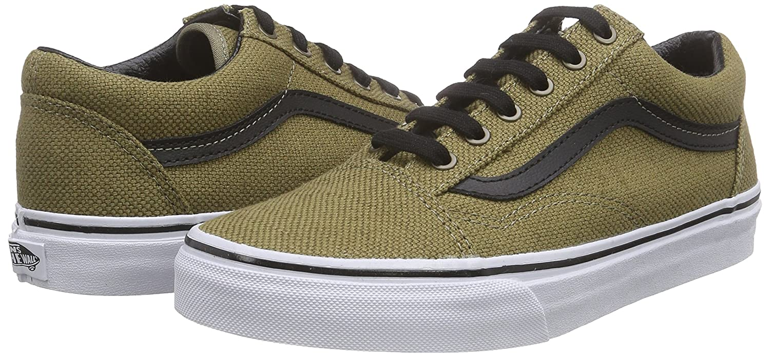 Vans Unisex Old Skool Classic Skate Shoes B0130UMLYE 9.5 M US Women / 8 M US Men|Walnut Black