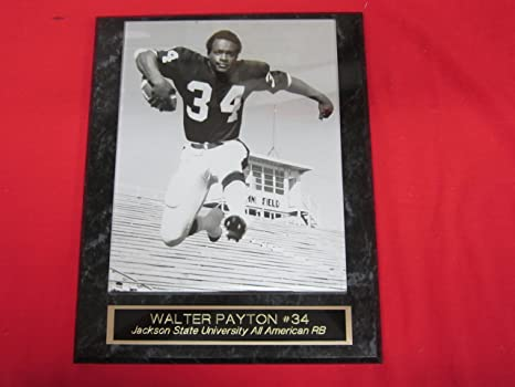 the latest 7dc86 54089 Walter Payton Jackson State University Engraved Collector Plaque w/8x10  RARE Photo