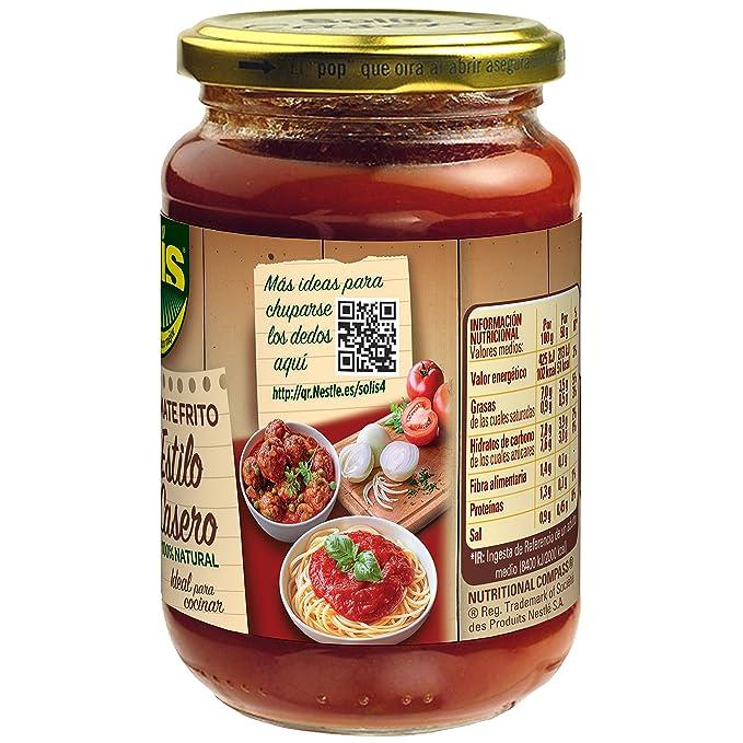 SOLIS Tomate Frito Estilo Casero Frasco Cristal - Tomate sin gluten - 350 g - Pack de 12: Amazon.es: Alimentación y bebidas