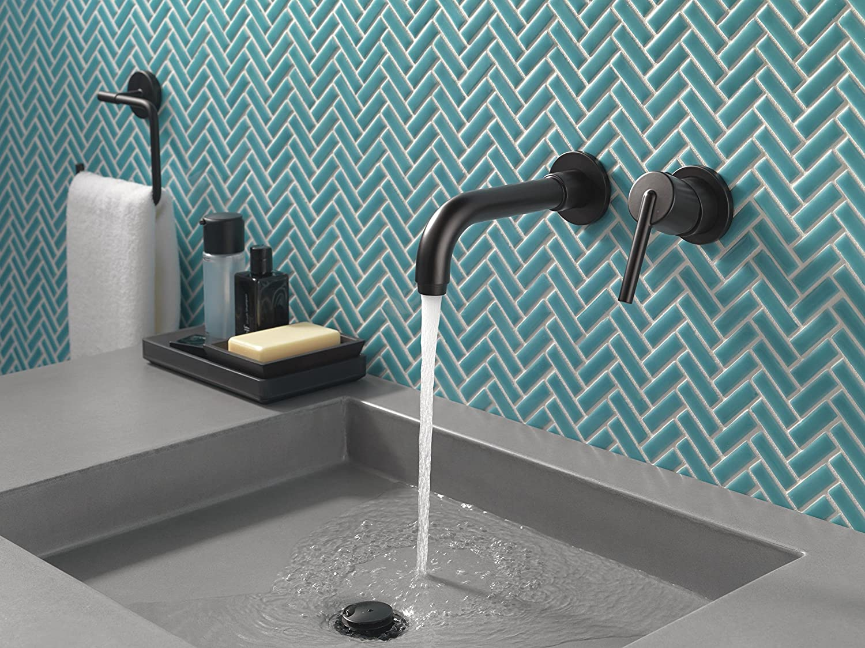Delta Faucet T3559LF-BLWL Trinsic single Handle Wall Mount Bathroom ...