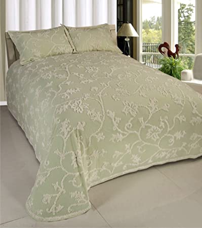 amazoncom beatrice home fashions long branch chenille bedspread king home u0026 kitchen - Chenille Bedspreads