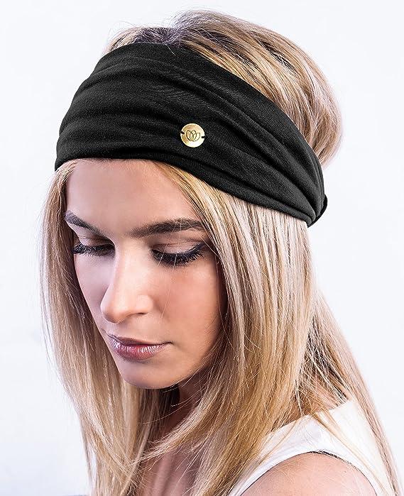 LIFLWO/_hairband Headband Knit Women Men Knitted Twist Soft Elastic Sport Hair Band Turban Ear Warmers Pack 1PC//2Pcs