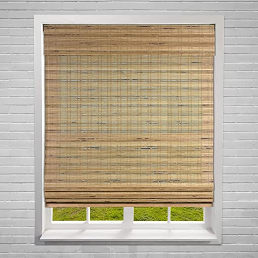 Amazon Com Misc 22 X 60 Bamboo Blinds Natural Wood Window Shade Cordless Lift Roman Shades Hanging Blind Sun Filter Home Kitchen