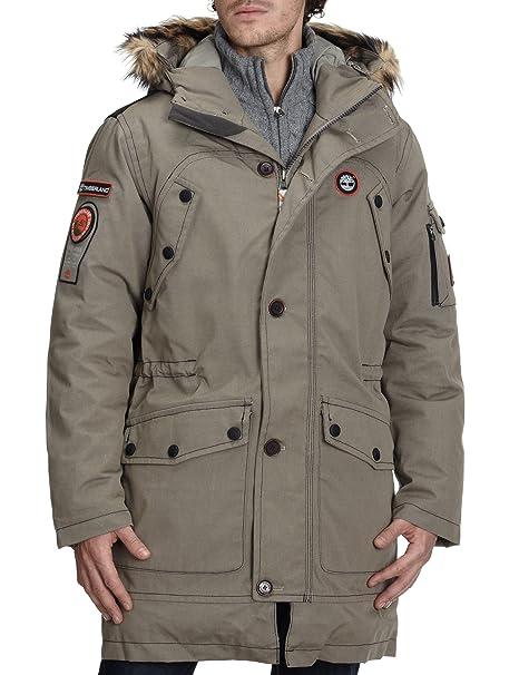Timberland galehead Long Down Jacket 33475 Hombre Largo Abrigos Grau (089) L: Amazon.es: Ropa y accesorios
