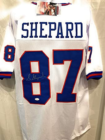f06cb18dc Sterling Shepard New York Giants Signed Autograph White Custom Jersey Blue    s JSA Certified
