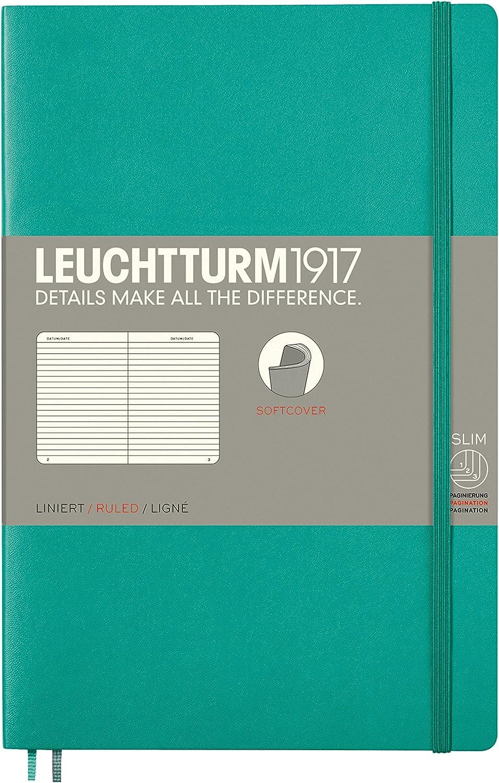 LEUCHTTURM1917 358324 Notebook Softcover Paperback Dotted B6+ Sand