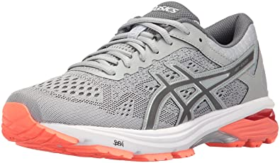best cheap 36781 012bb ASICS Womens GT-1000 6 Running Shoe Mid Grey Carbon Flash Coral 5