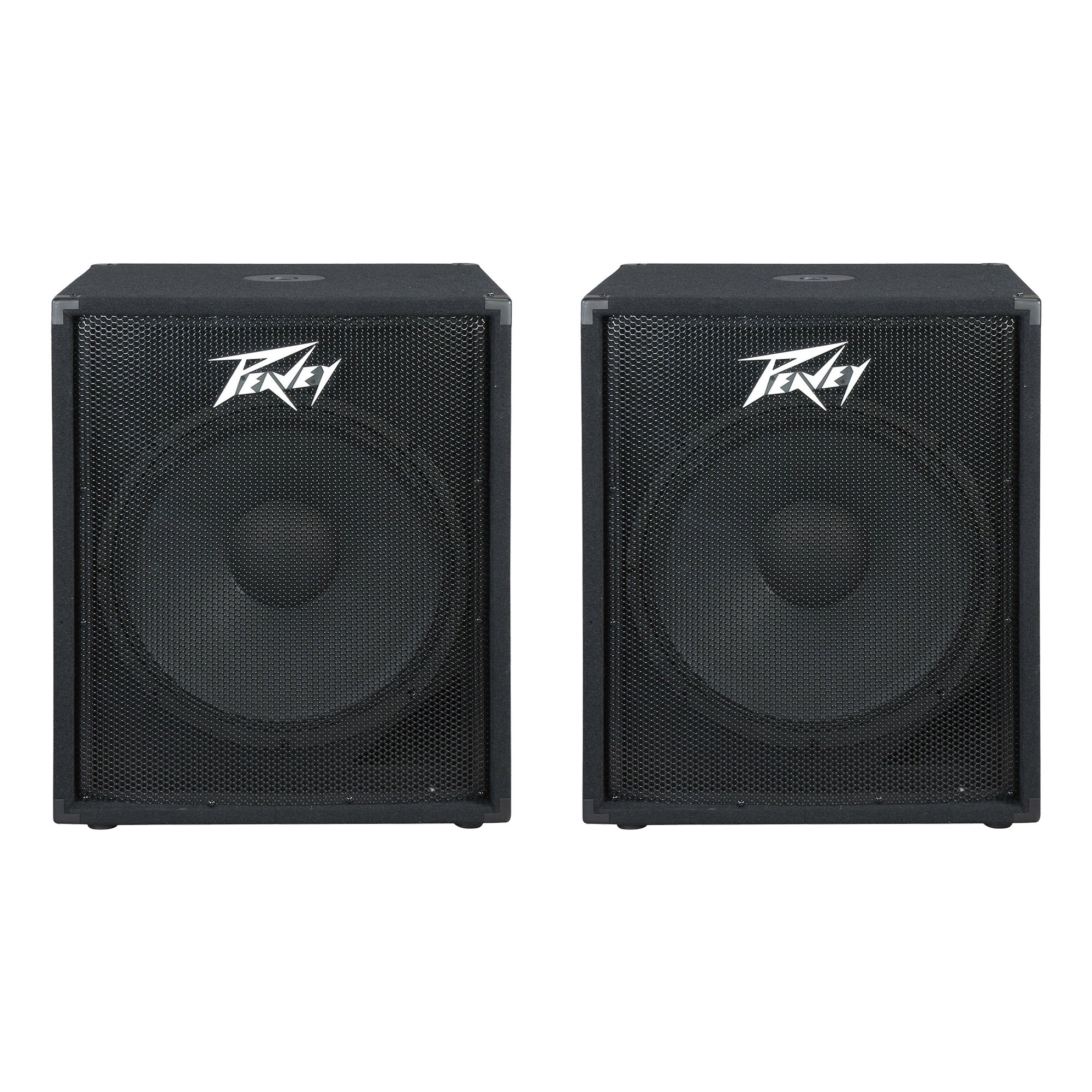 Peavey PV 118 400 Watt 18 Inch Compact Vented Heavy Duty Pro Subwoofer (2 Pack) by Peavey