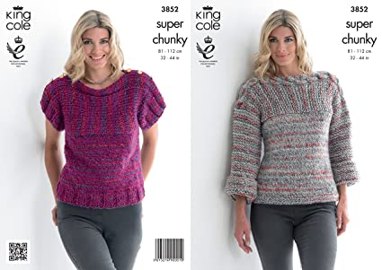 King Cole Ladies Gypsy Super Chunky Knitting Pattern Womens Long