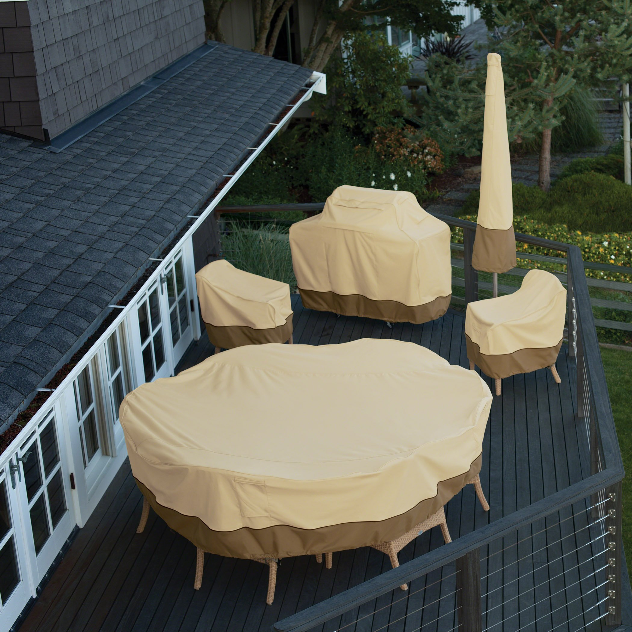 Classic Accessories Veranda Tall Round Patio Table & Chairs Cover, Large by Classic Accessories (Image #3)
