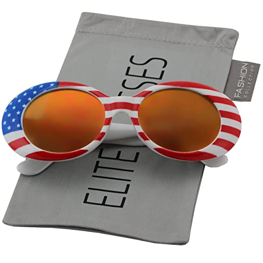 5627304284d6 Clout Goggles Oval Mod Retro Thick Frame Rapper Hypebeast Eyewear Supreme Glasses  Cool Sunglasses (American