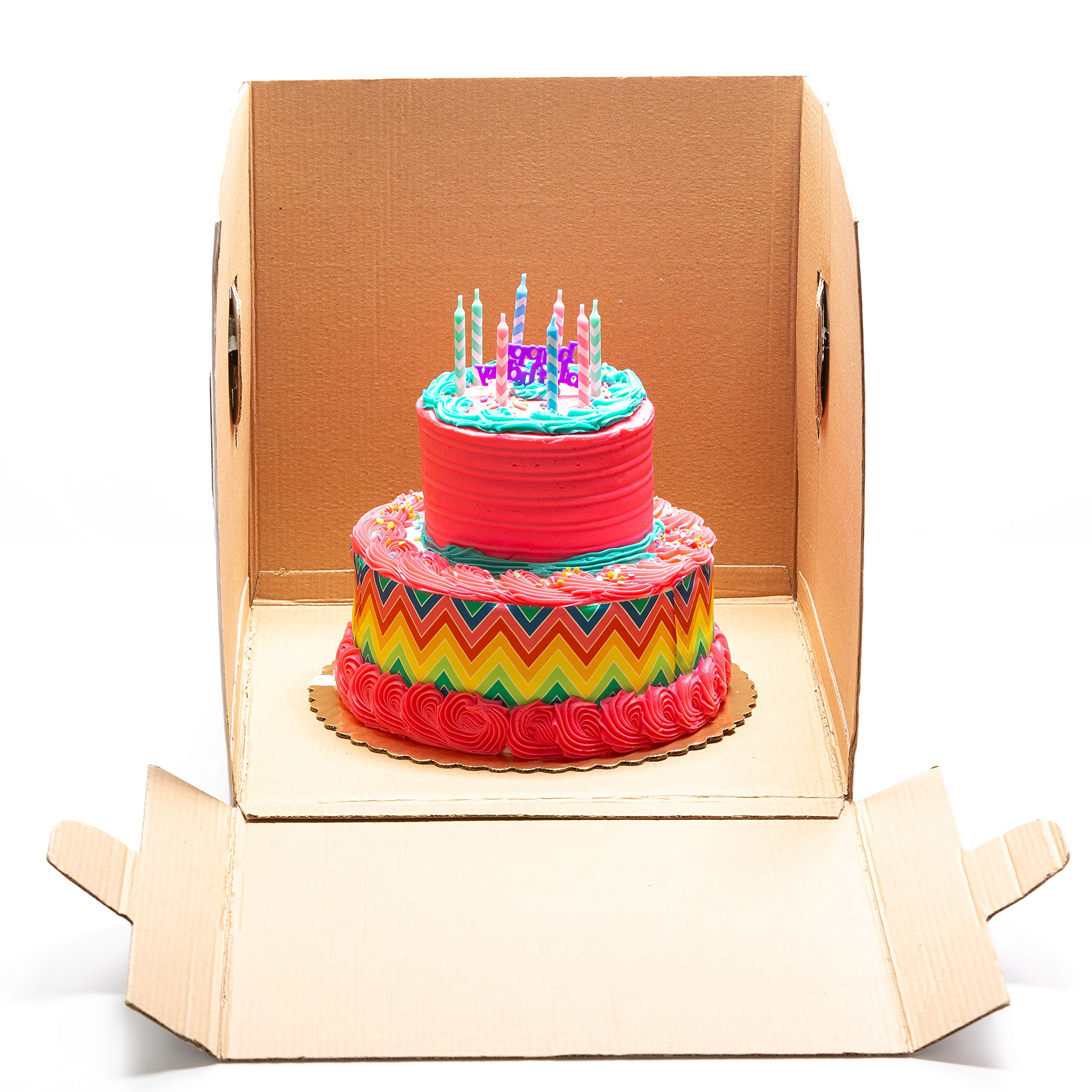 12x12x12 Tall Tiered Double Layer Carry Cake Box for Transport-3 pack (3, 12x12x12) by BeLuxe (Image #2)
