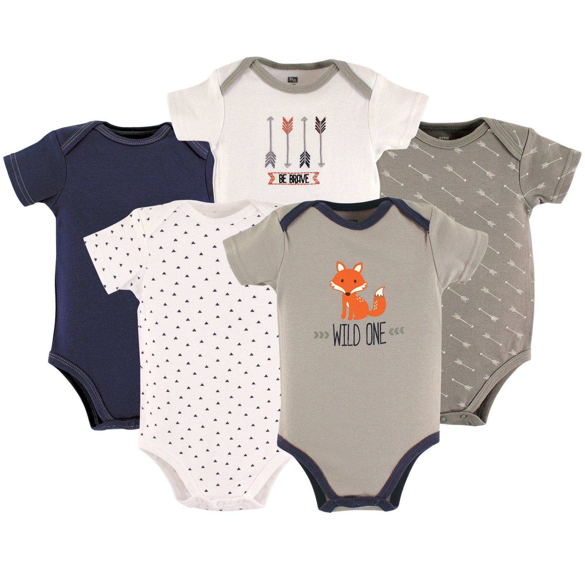 Hudson Baby Baby Cotton Bodysuits, Wild One 5-Pack 3-6 Months (6M)
