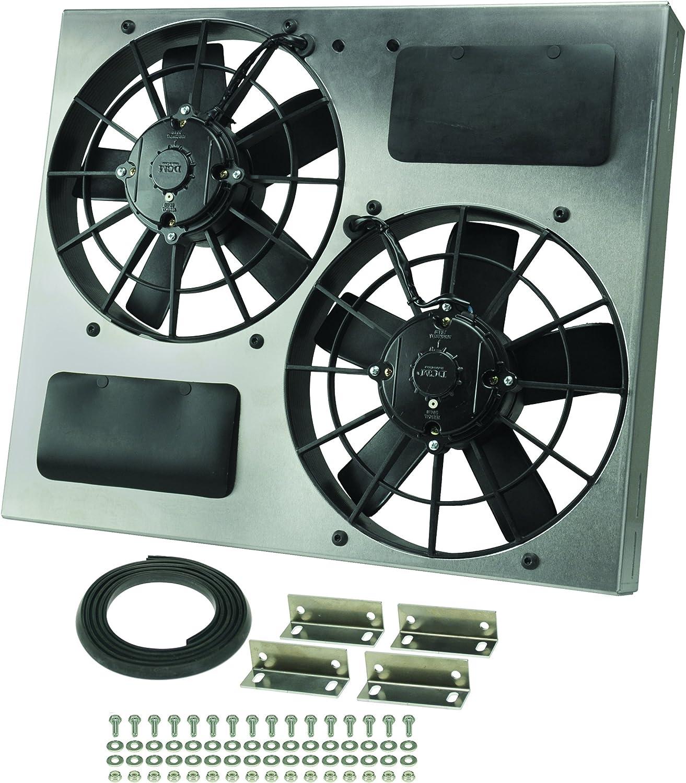 Derale Performance 16830 Gray//Black High Output Dual Radiator Fan