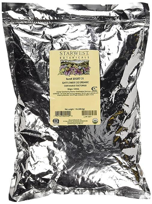Safflower C/S Organic Starwest Botanicals 1 lb