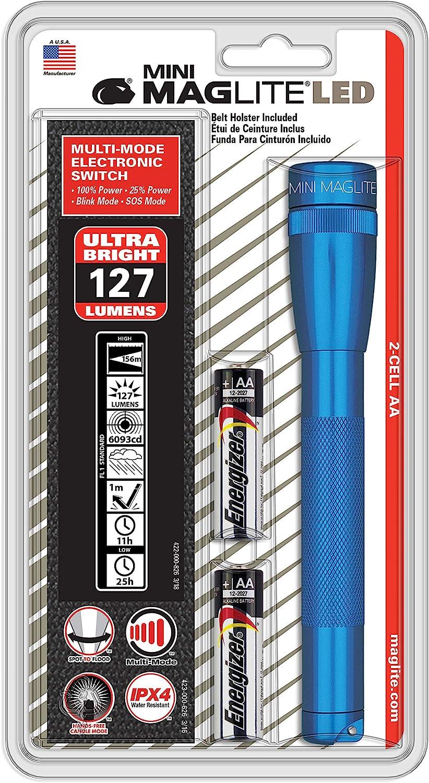 Maglite SP32116 Mini Blue LED Hunting Camping Emergency Flashlight