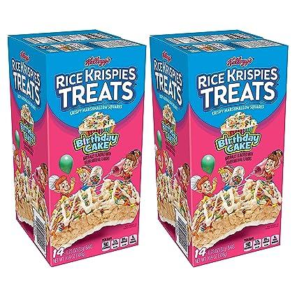 Fabulous Amazon Com Kelloggs Rice Krispies Treats Crispy Marshmallow Personalised Birthday Cards Sponlily Jamesorg