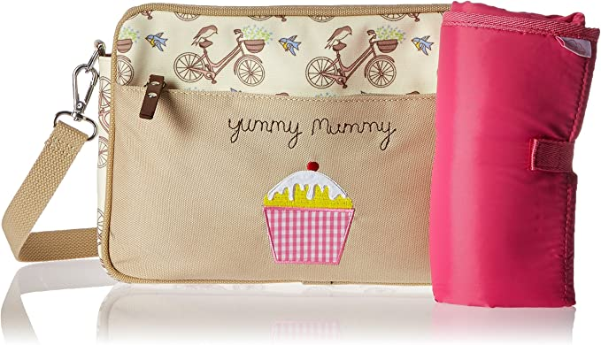 pink lining yummy mummy changing bag bike in the mews