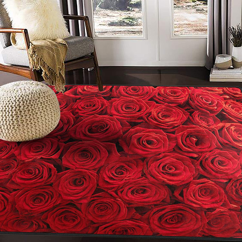 Amazon Com Alaza Cartoon Cactus Flower Area Rug Rugs Mat For Living Room Bedroom Multi 7 7 X5 Home Kitchen