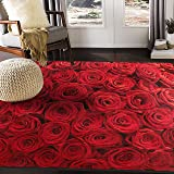 ALAZA Cartoon Cactus Flower Area Rug Rugs Mat for Living Room Bedroom (Multi 7, 7'x5')
