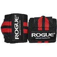 """Rogue - Muñequeras para ejercicio, disponibles en varios colores, Negro/Rojo, 12"""" (30.48cm)"""