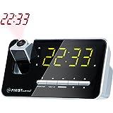 Radio réveil avec projecteur | écran à LED 1,2 | variable sur 3 puissances | ou peut être désactivé | mémorisation de 10 stations | sélection flexible des jours | fonction SLEEP | Double alarme | Affichage rouge projection |