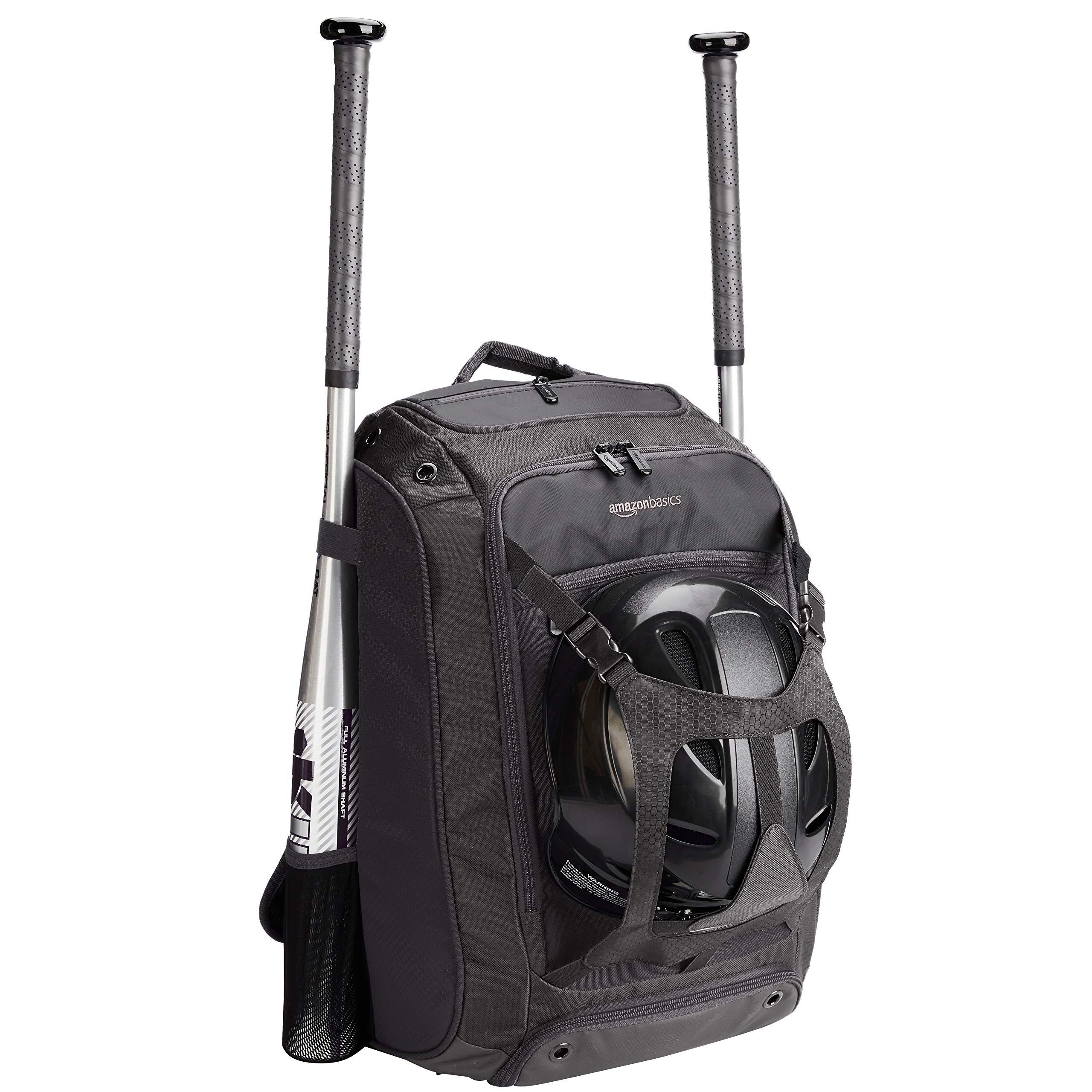 AmazonBasics Youth Baseball Equipment Backpack, Black by AmazonBasics (Image #1)