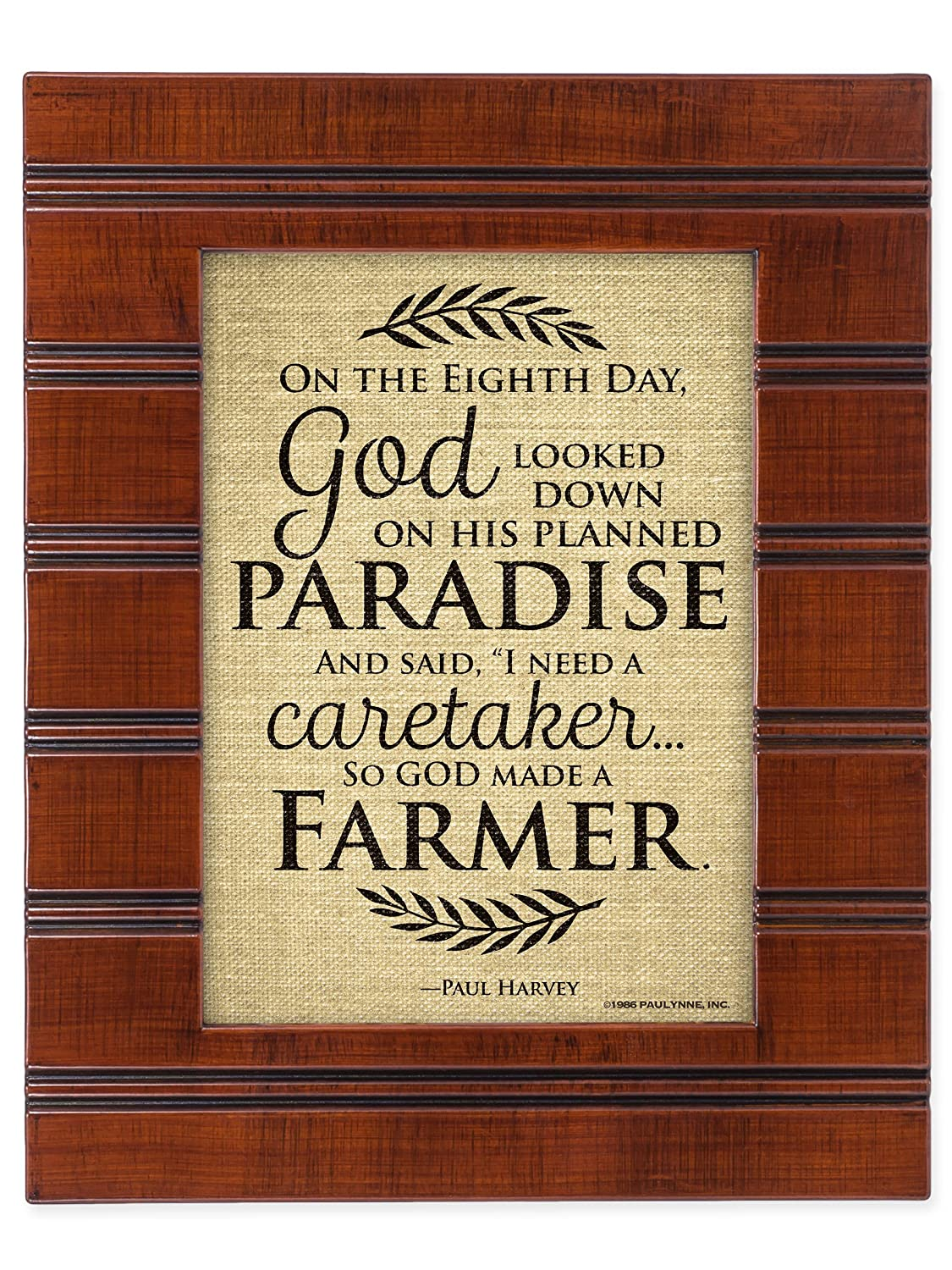 Amazon.com: So God Made a Farmer on the Eigth Day Wood Finish 8 x 10 ...