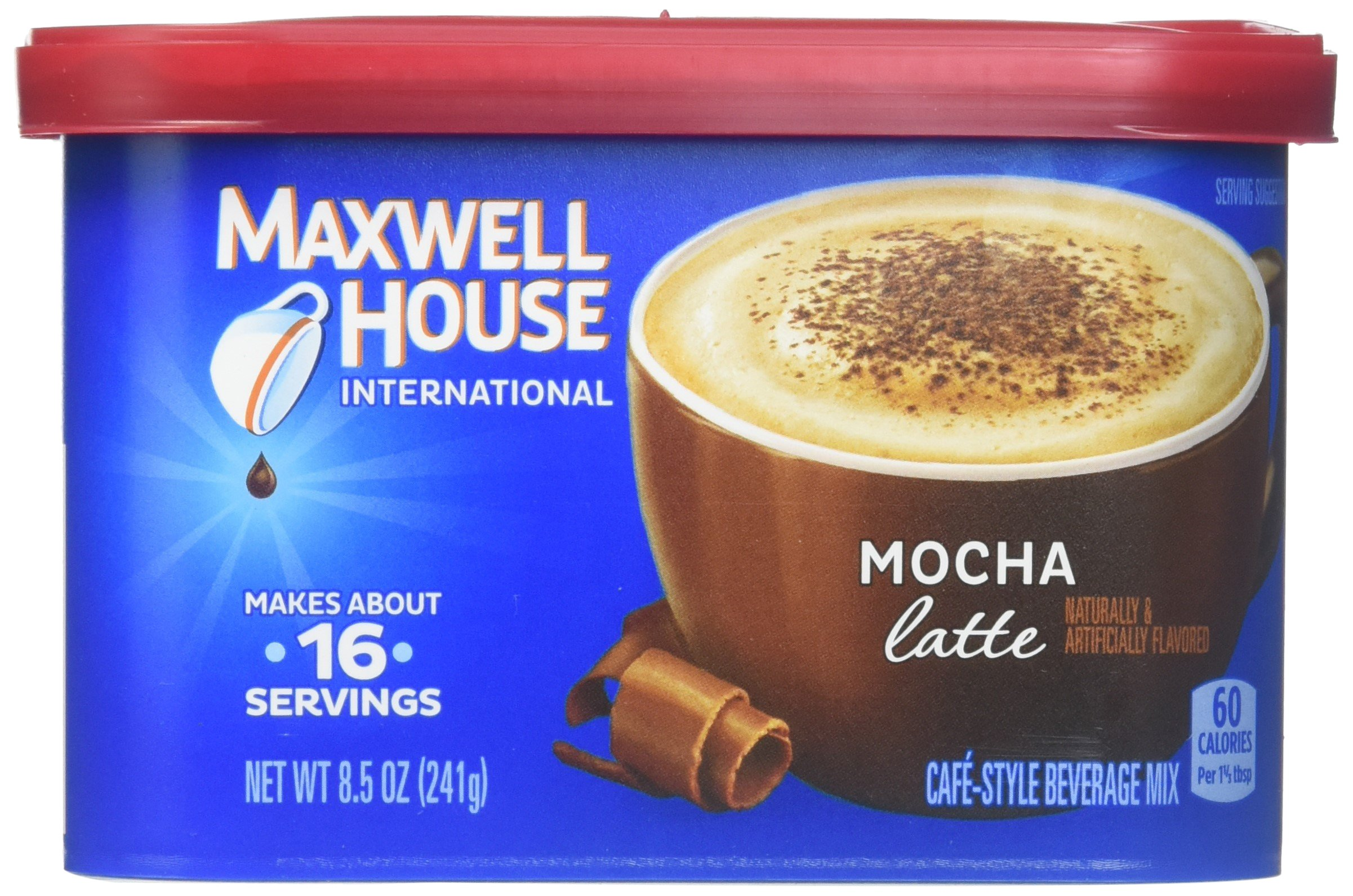 Maxwell House Mocha Latte Cafe Style Instant Beverage Mix, 8.5 Ounce - 8 per case.