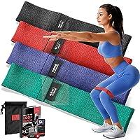 Resistance Band Fitnessbanden Rubber/Stof Set - Weerstandsbanden + Trainingshandleiding | Booty Loop Gymnastiekband…