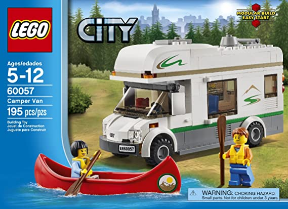 Amazon.com: LEGO City Great Vehicles 60057 Camper Van (Discontinued ...