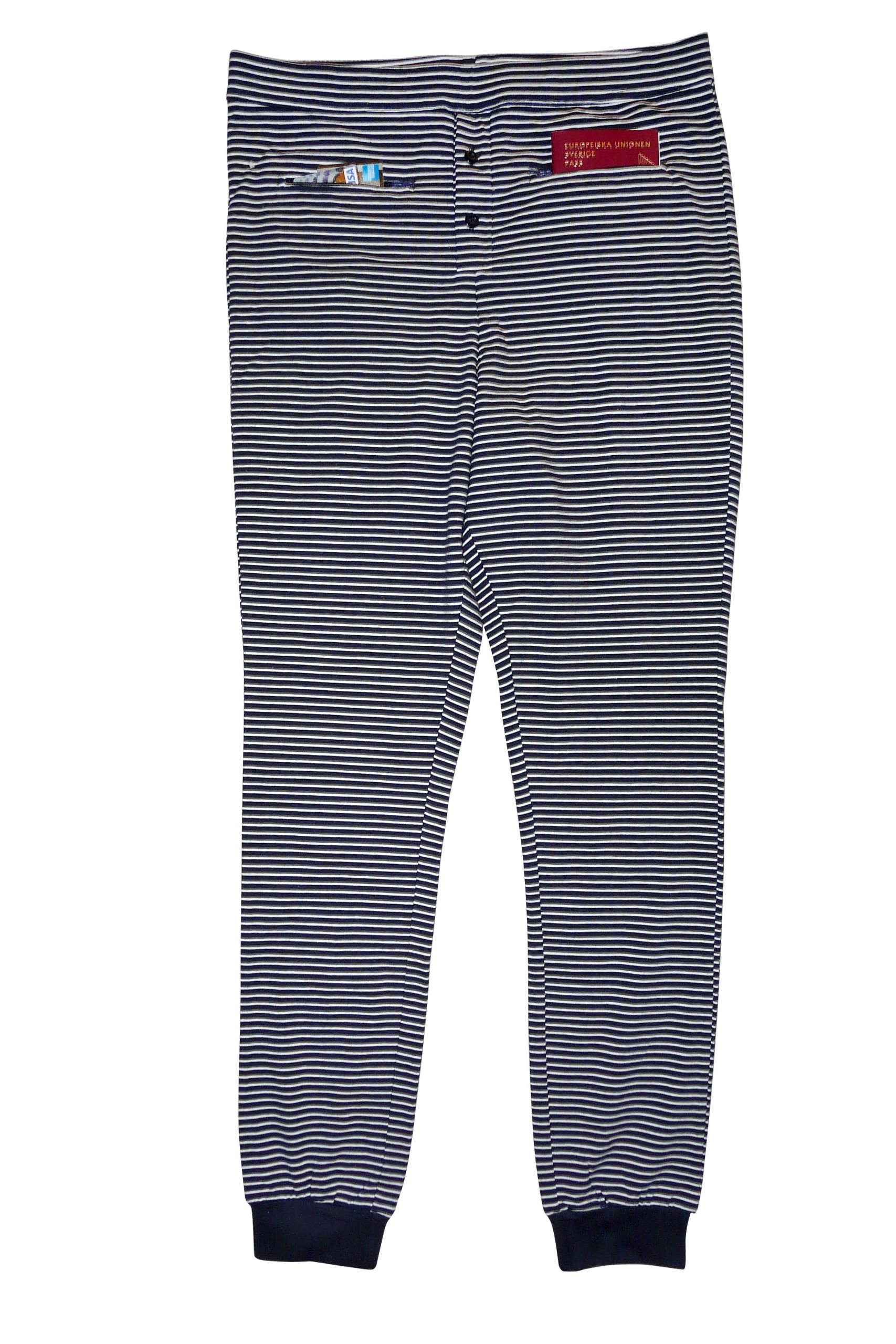 Clever Travel Companion Long Johns with Secret Pockets, Blue, Large