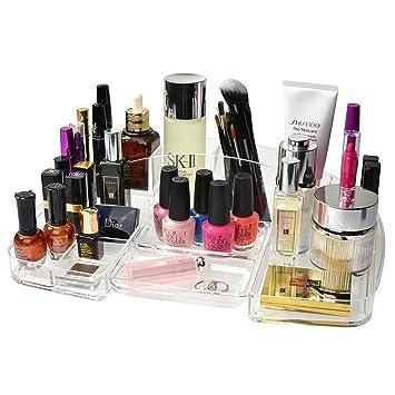 Clear Acrylic Bathroom Vanity Makeup Organizer Tray / Cosmetics u0026 Accessories Storage Container - MyGift  sc 1 st  Amazon.com & Amazon.com: Clear Acrylic Bathroom Vanity Makeup Organizer Tray ...