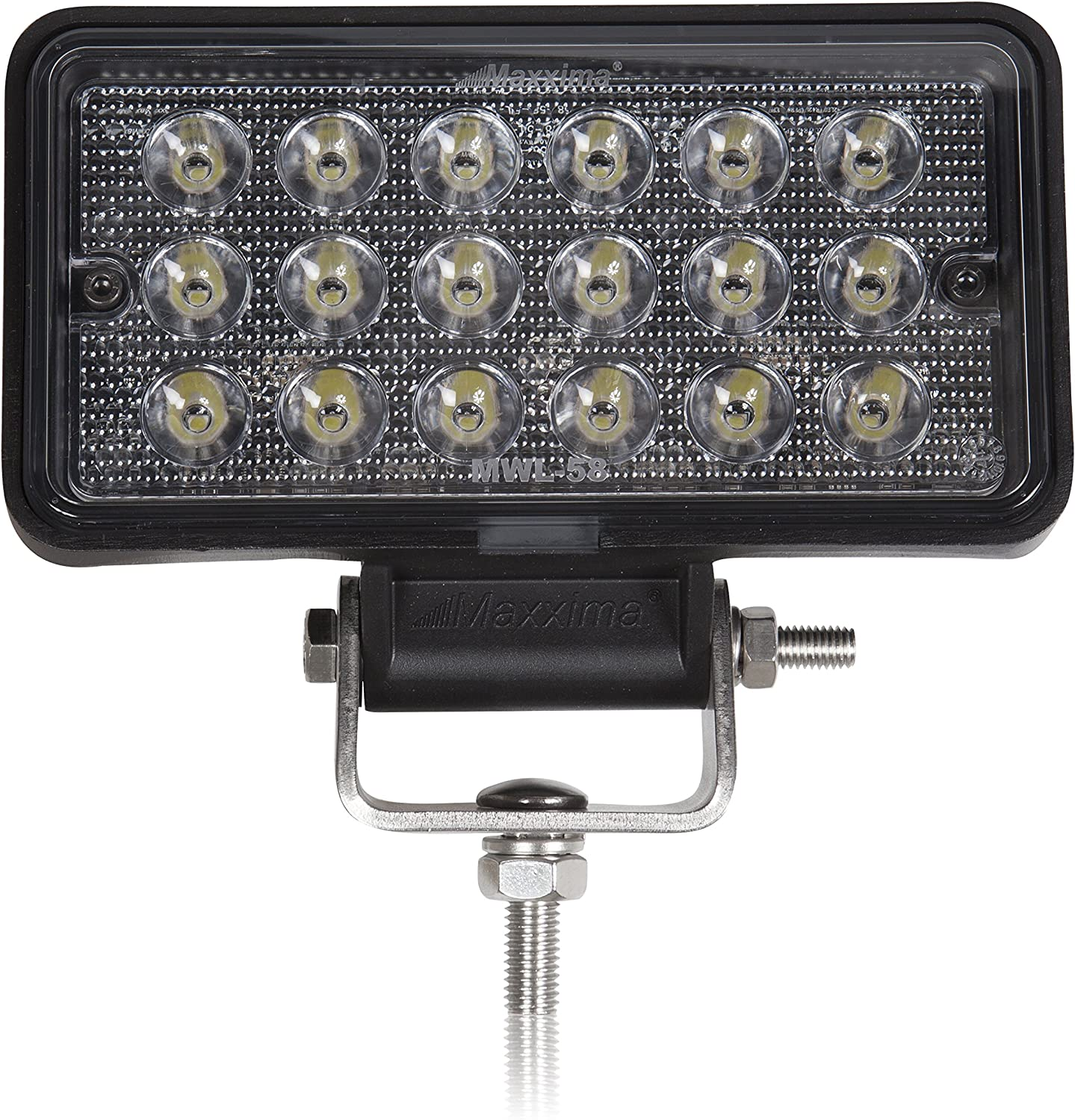 Maxxima MWL-57SP 8 LED Rectangular Flood Beam Work Light 2,150 Lumens
