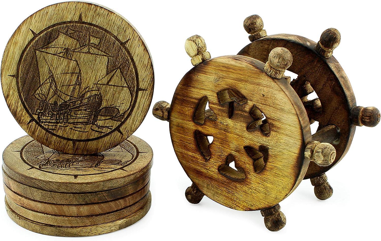 Ship Wheel Coaster set of 6