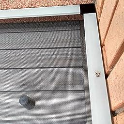 Montaje sin perforaci/ón JAROLIFT Profi Line Mosquitera con marco de aluminio para ventana 100cm x 150cm blanca