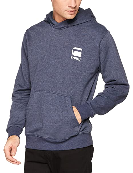 Doax Hooded Zip Thru Sw L/s, Capucha para Hombre, Multicolor (Dk Black Htr 7293), XX-Large G-Star