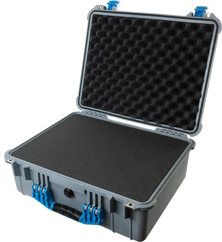 Comes with Foam. Silver /& Blue Pelican 1550 Case