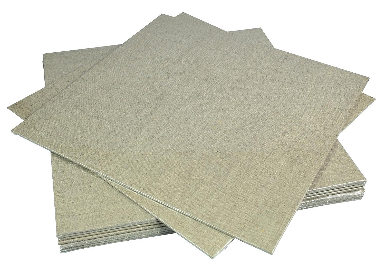 Pebeo - Pannelli in lino naturale, 40 x 40 cm, 1 pezzo 767304