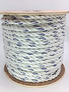"""5//8/"""" x 100/' 3 Strand Poly Dacron hoist rope,rigging rope,7,200 lb  JUST REDUCED!"""