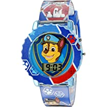 Paw Patrol Kids Digital Watch with Blue Case, Comfortable Blue Strap, Easy to ...