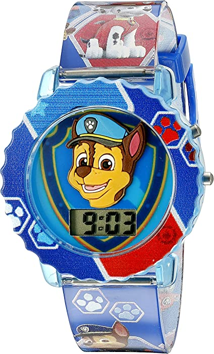 Paw Patrol Kids Digital Watch with Blue Case, Comfortable Blue Strap, Easy to Buckle - Official 3D Paw Patrol Character on the Dial, Safe for Children ...